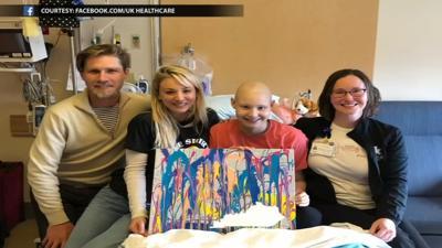 Kaley Cuoco at Ky Childrens Hospital 5-14-19