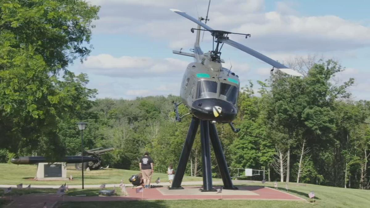Helicopter at Veterans Memorial Plaza in Jeffersontown.jpeg