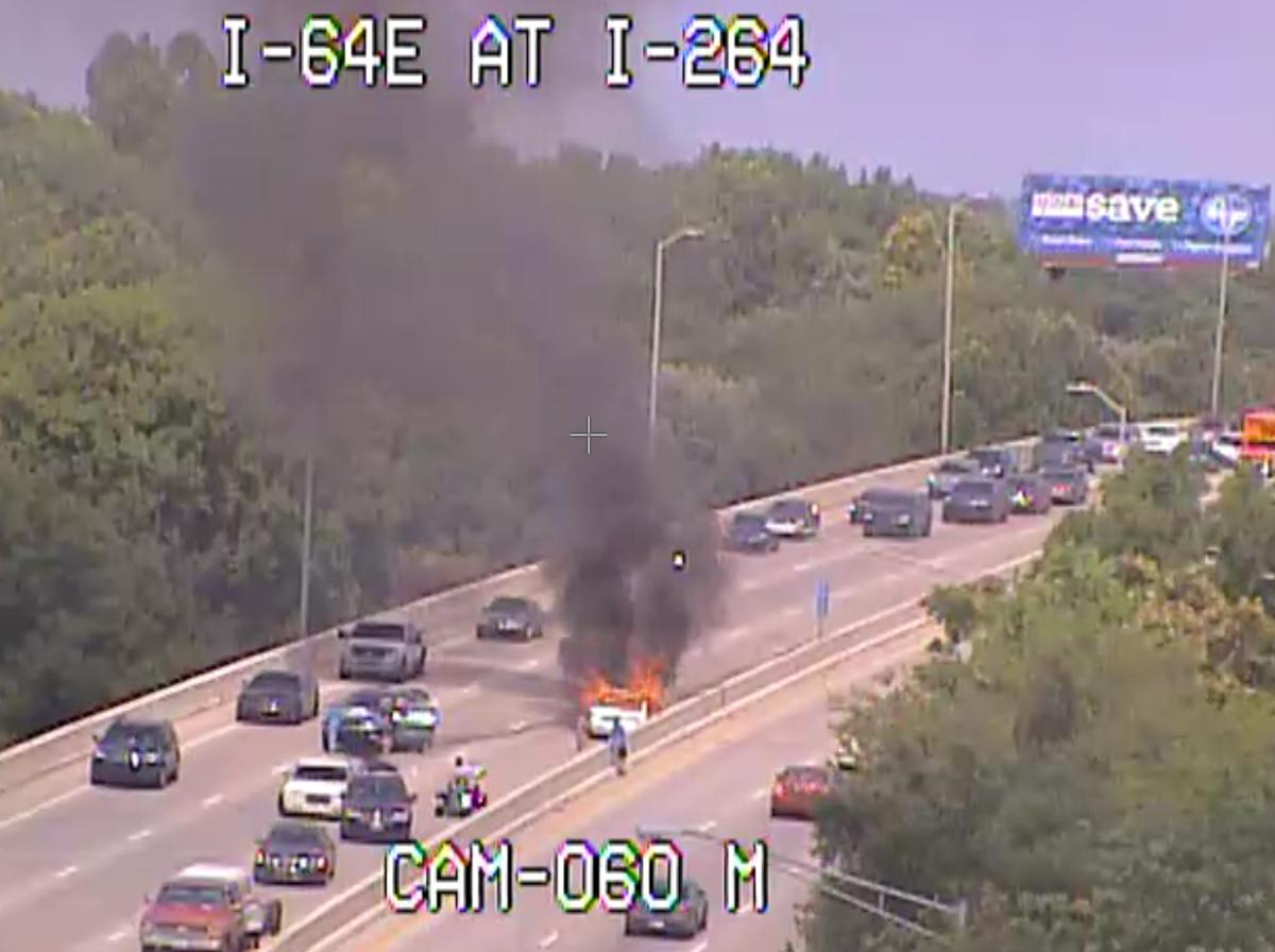 Fatal vehicle fire on I-264