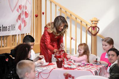 First lady Melania Trump, Valentine's Day at The Childrens Inn, National Institutes of Health