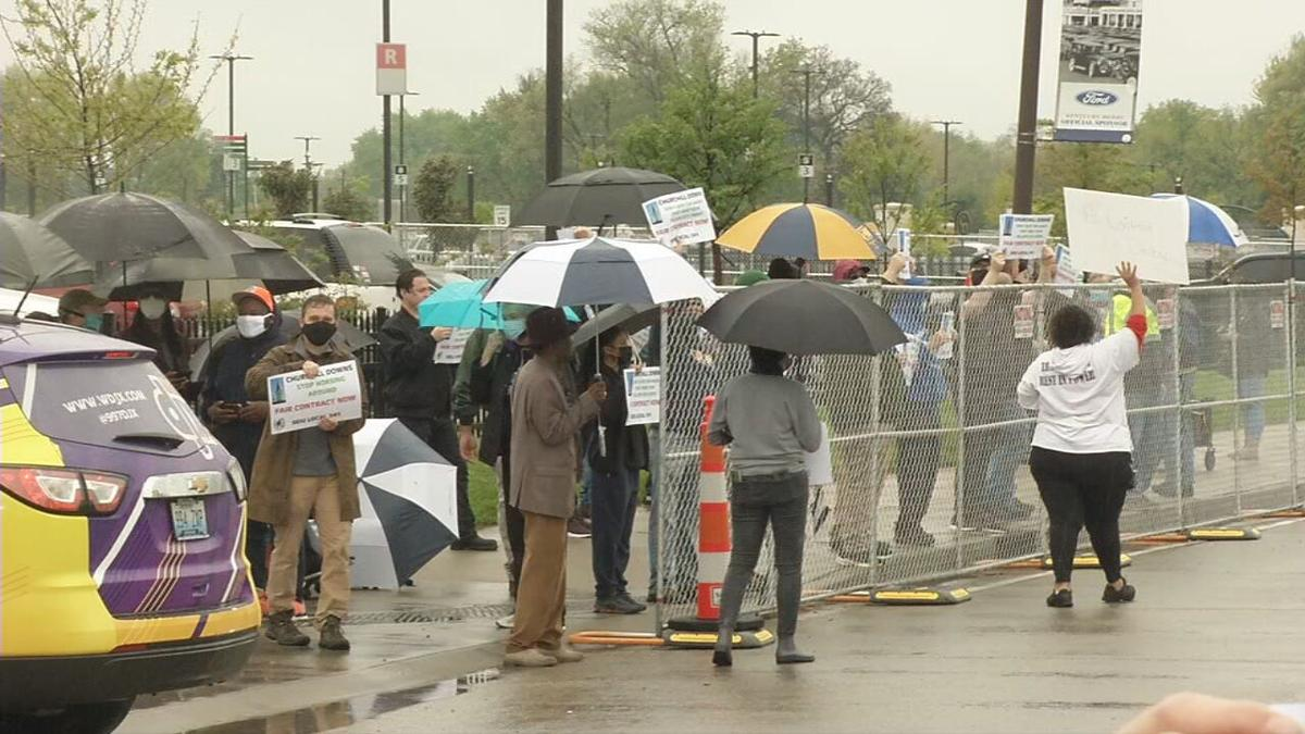 Protesters for valets outside of Churchill Downs.jpeg