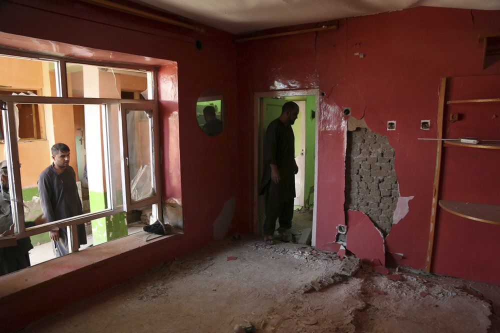 Afghanistan - Home damaged in expoosion 9-10-19