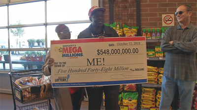 Dreamers line up for free Mega Millions tickets for $548 million jackpot