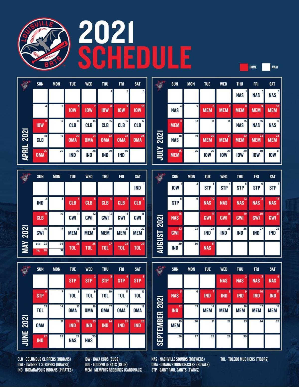 Louisville Bats 2021 schedule | | wdrb.com