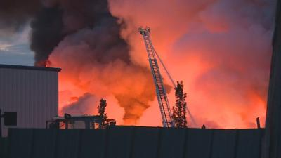 Crews work fire at Kentucky recycling plant for third day in a row