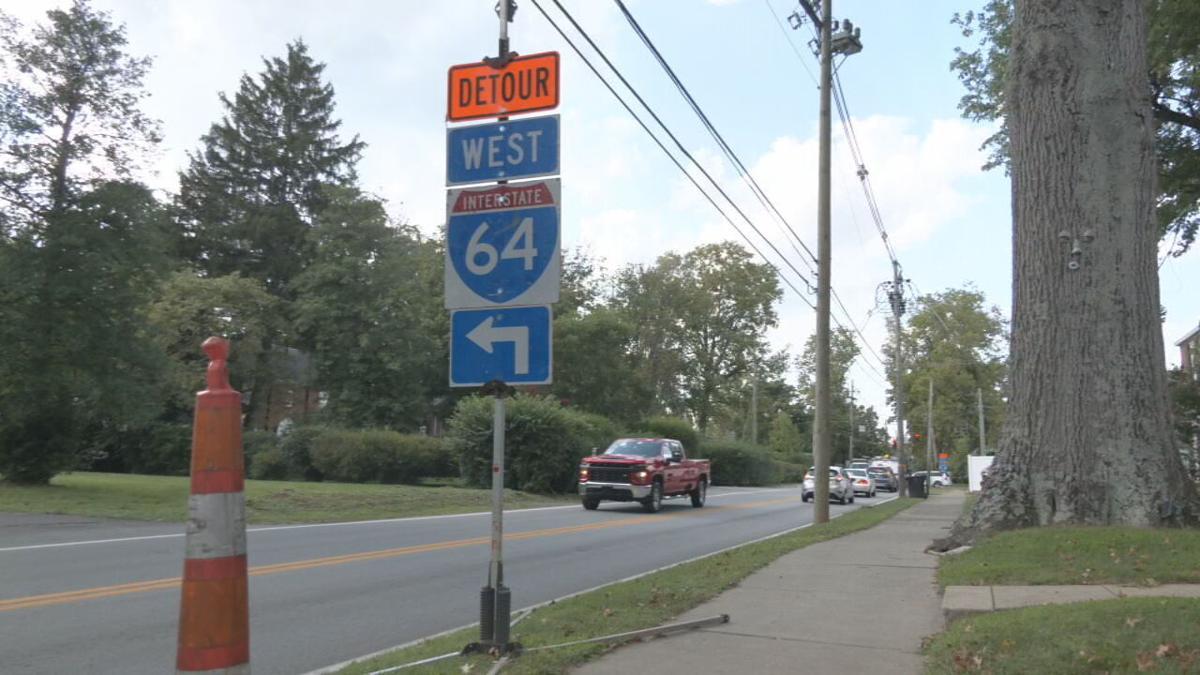 I-64W detour sign Sept. 2021.jpeg