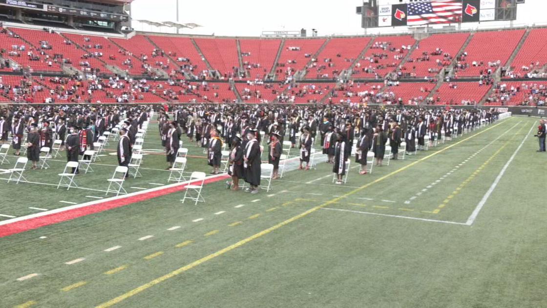 U of L hosts in-person graduation ceremonies at Cardinal Stadium