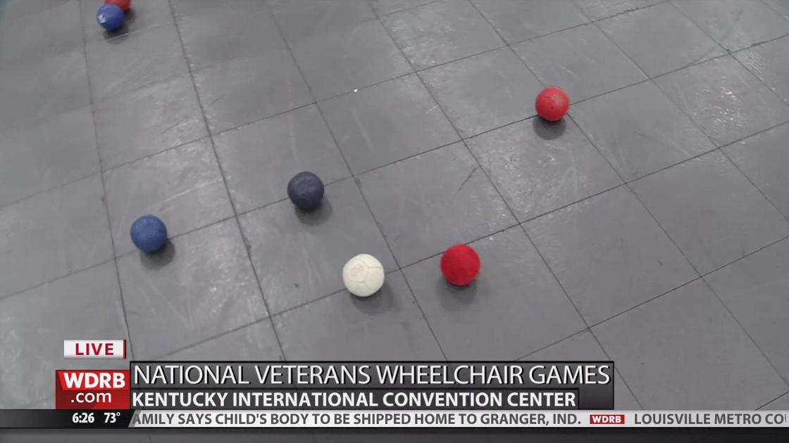 Bocce ball is one of the events at the Veterans Wheelchair
