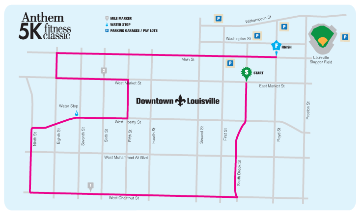 Anthem 5K Fitness Classic race route 2019