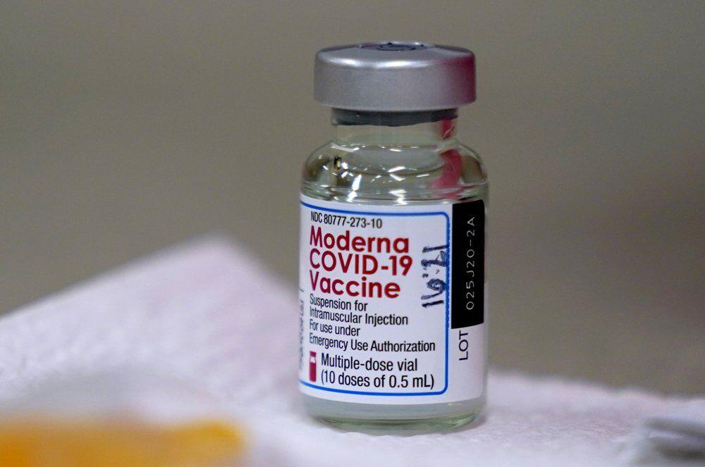 Moderna vaccine in vial