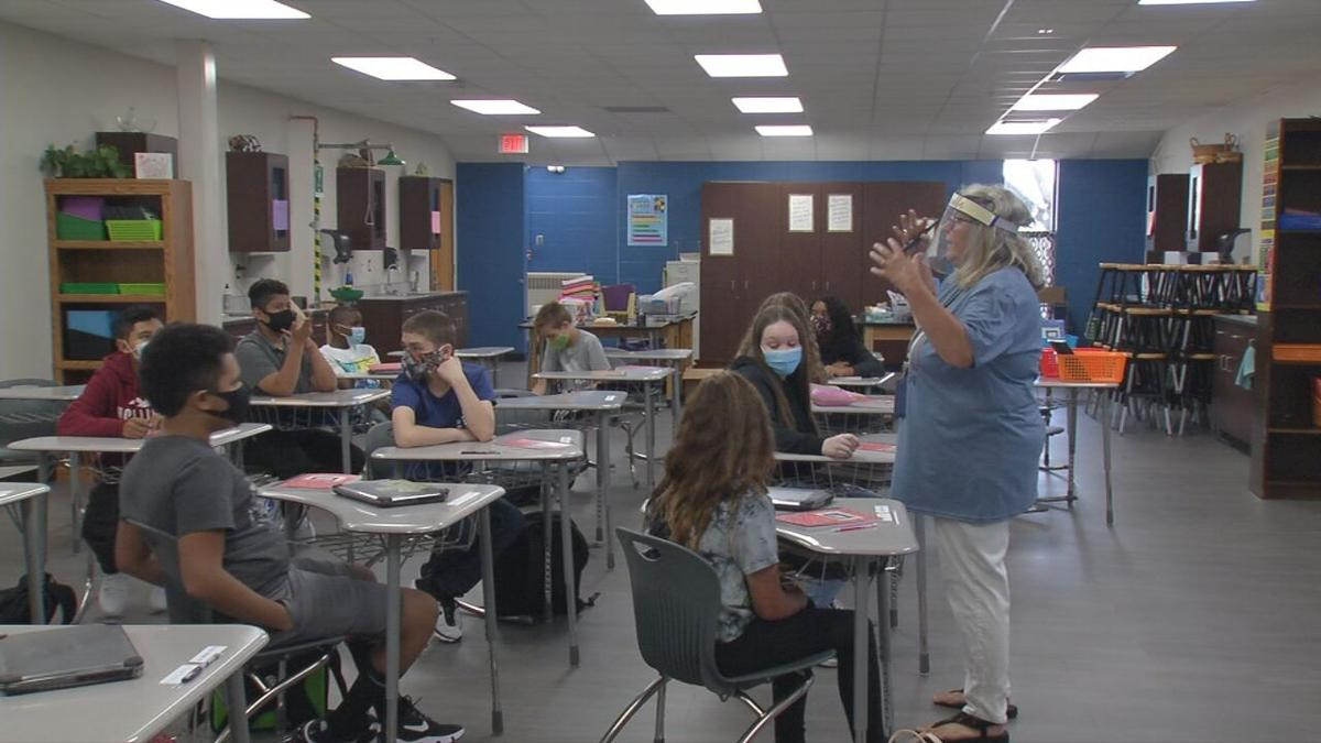 Masked students in Indiana schools