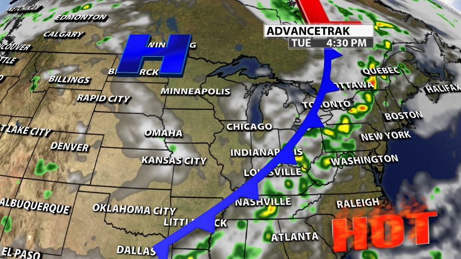 TIMING | Cold Front Brings Rain & Storms | Weather Blog | wdrb com