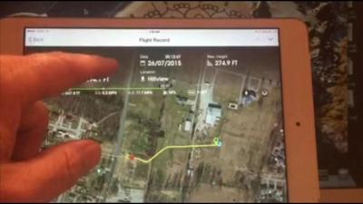 UPDATE: Drone owner disputes shooter's story; produces video he claims shows flight path