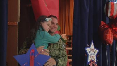 PRICELESS: Bridgepoint Elementary student gets big surprise when dad shows up at school assembly
