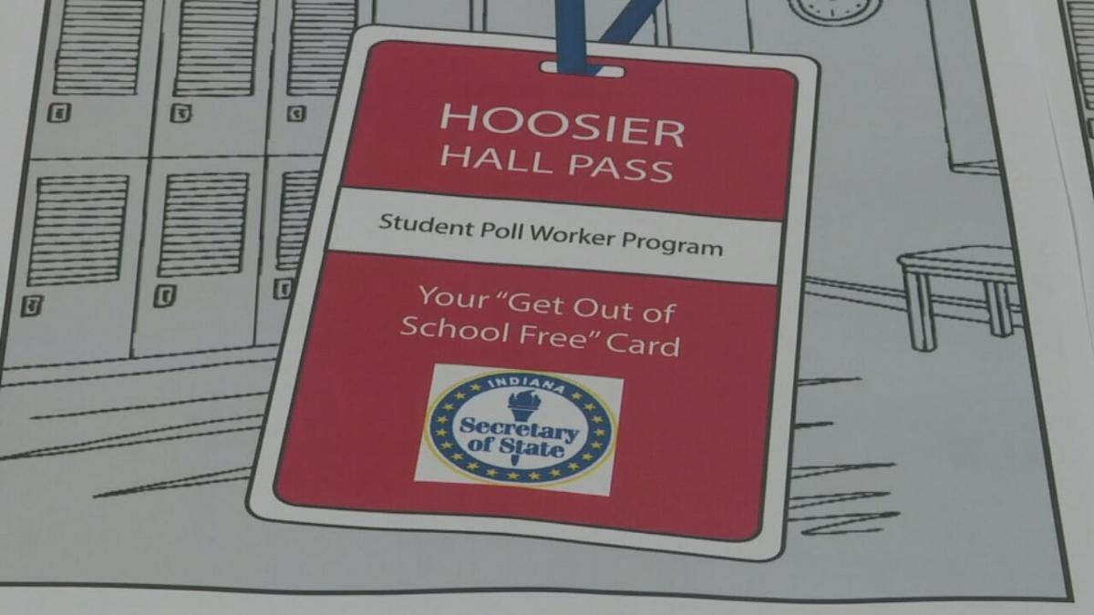 Hoosier Hall Pass student poll worker program