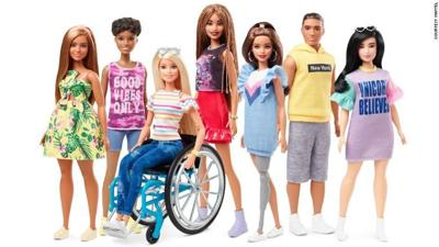prosthetic and wheelchair Barbie