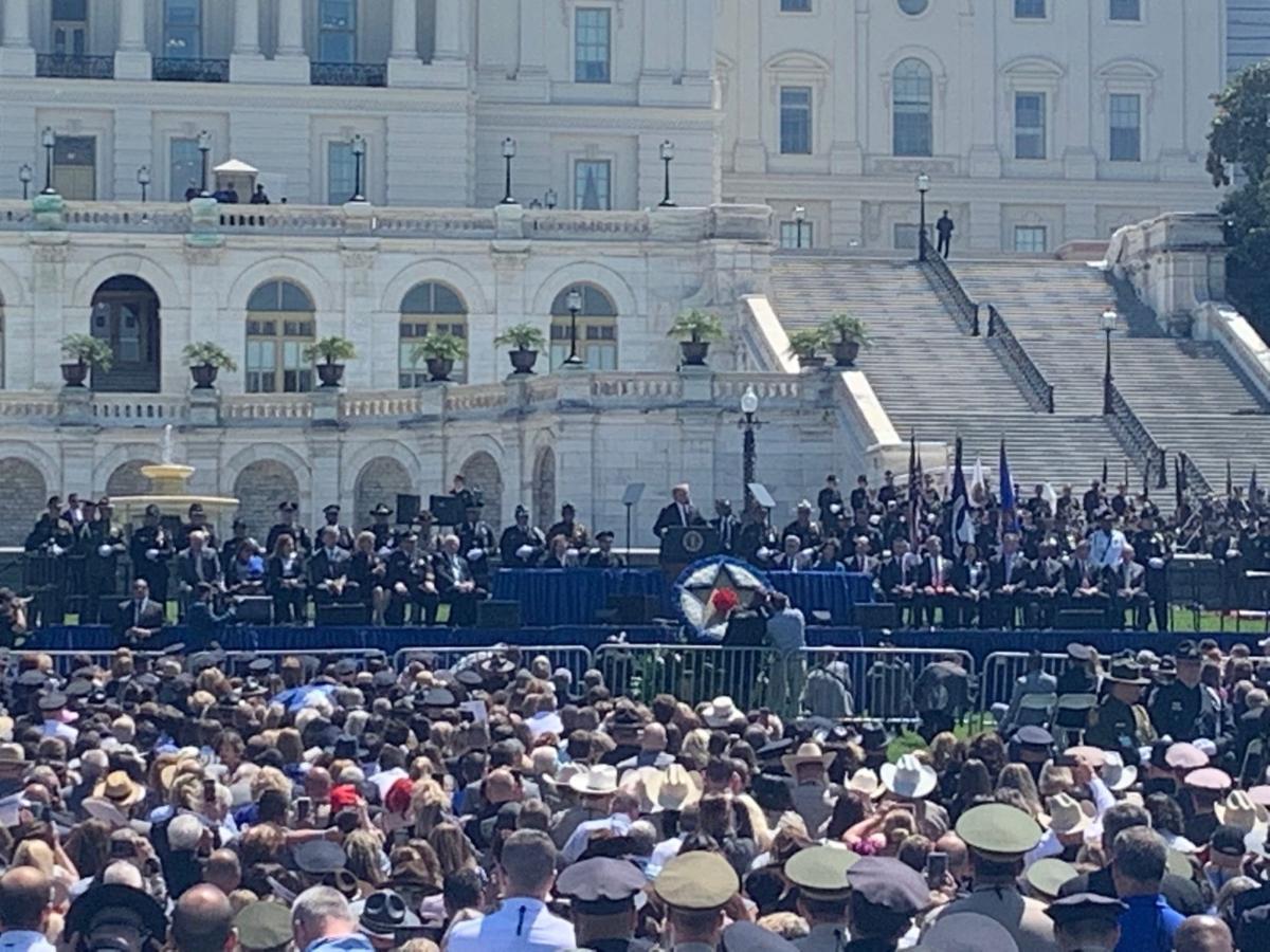 Trump speaks at Officer Memorial