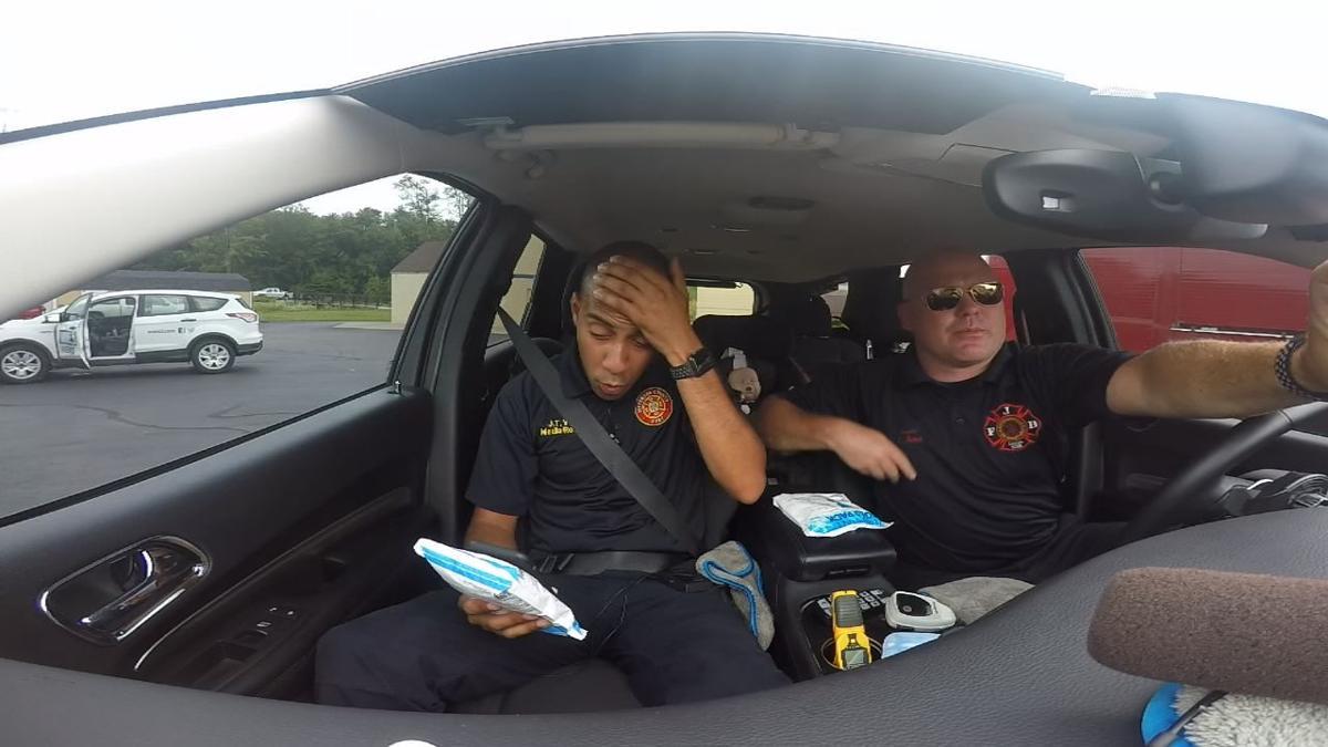 Firefighters demonstrate danger of hot car