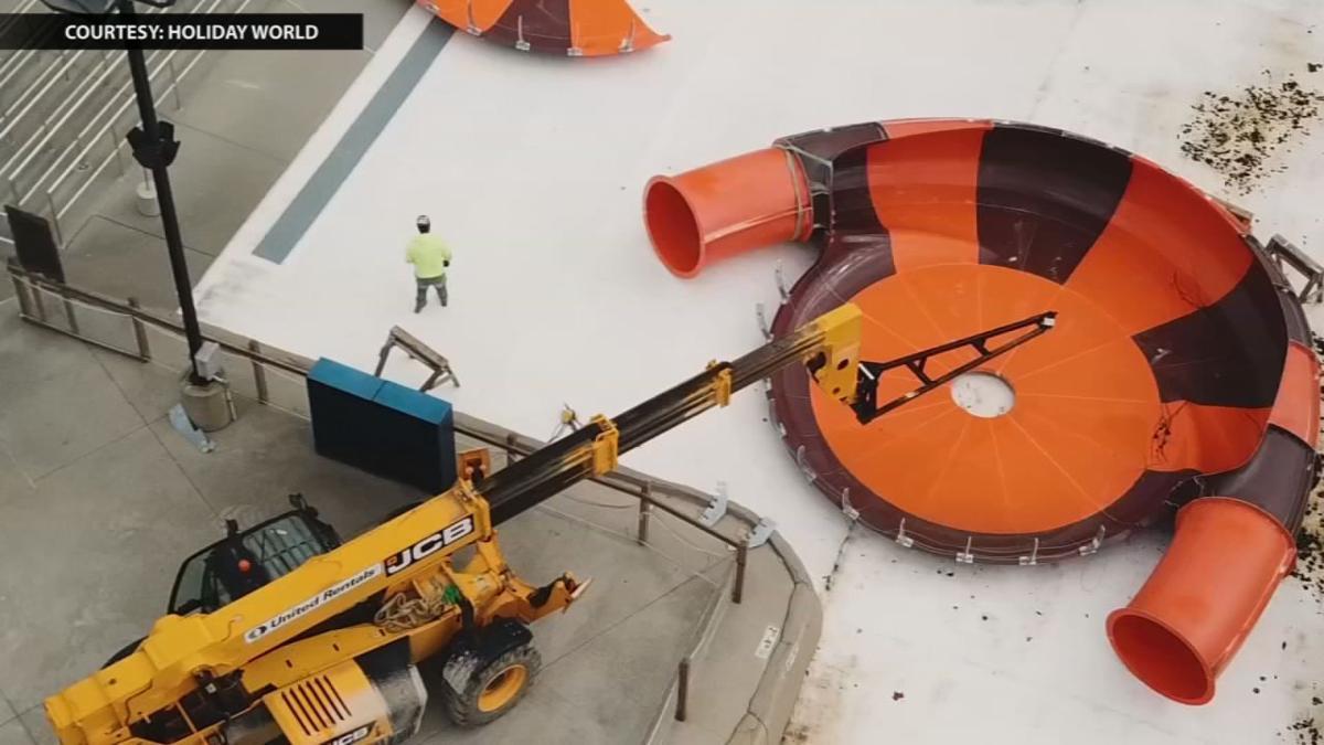 Holiday World Coaster Construction Equipment