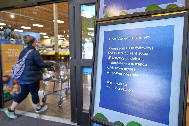 The Kroger Co  signage, COVID-19, customer limits