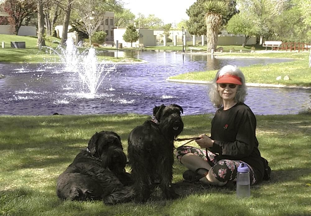 Penny Wagner with dogs