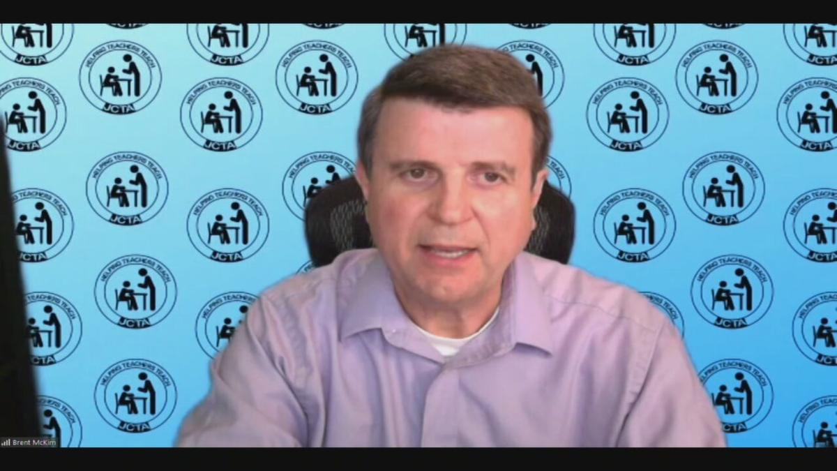 Brent McKim, president of the Jefferson County Teachers Association