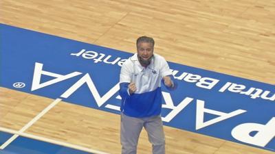John Calipari on basketball court