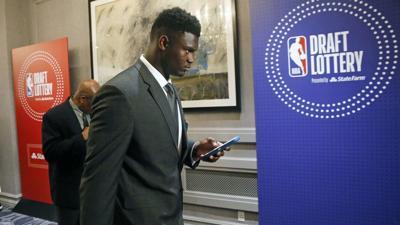 NBA DRAFT LOTTERY AP PHOTO