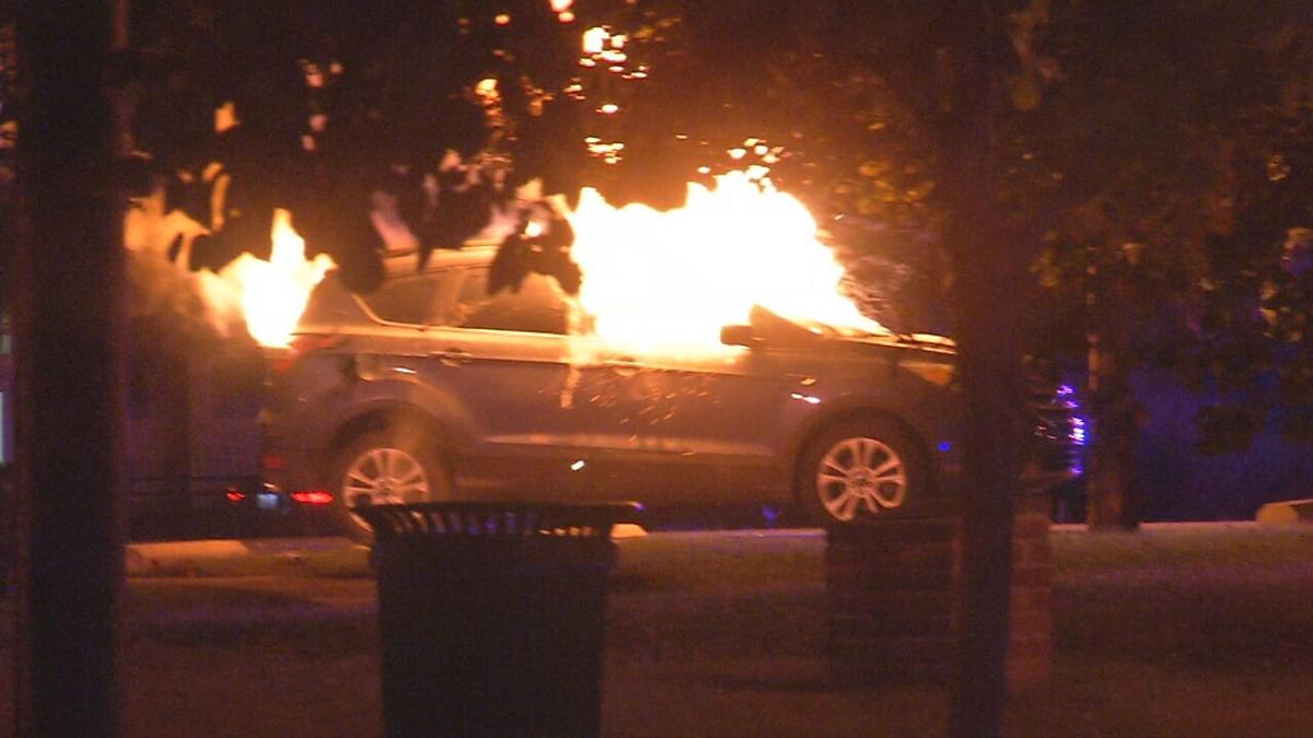 Car fire at Fourth and Breckinridge streets 9/27/20