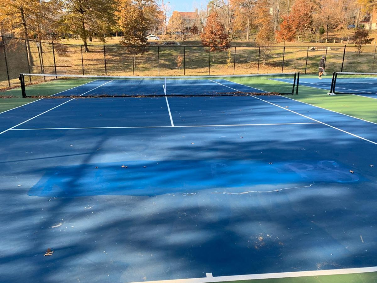 New tennis courts at Tyler Park vandalized with graffiti