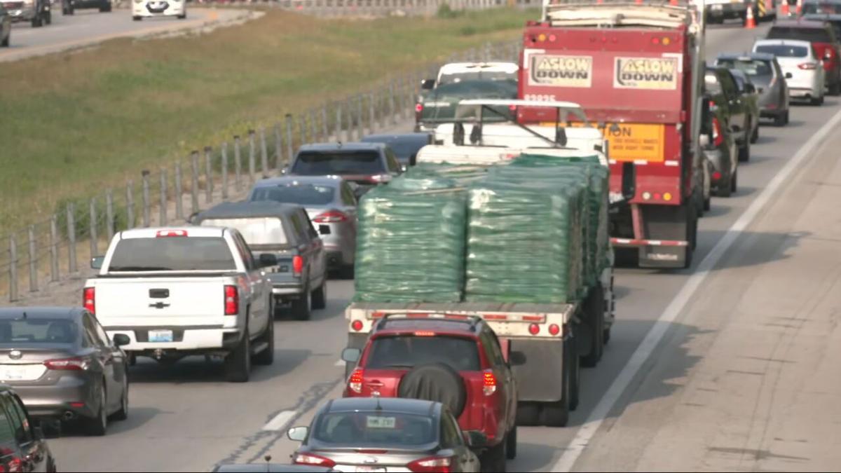 Traffic backup on I-71S