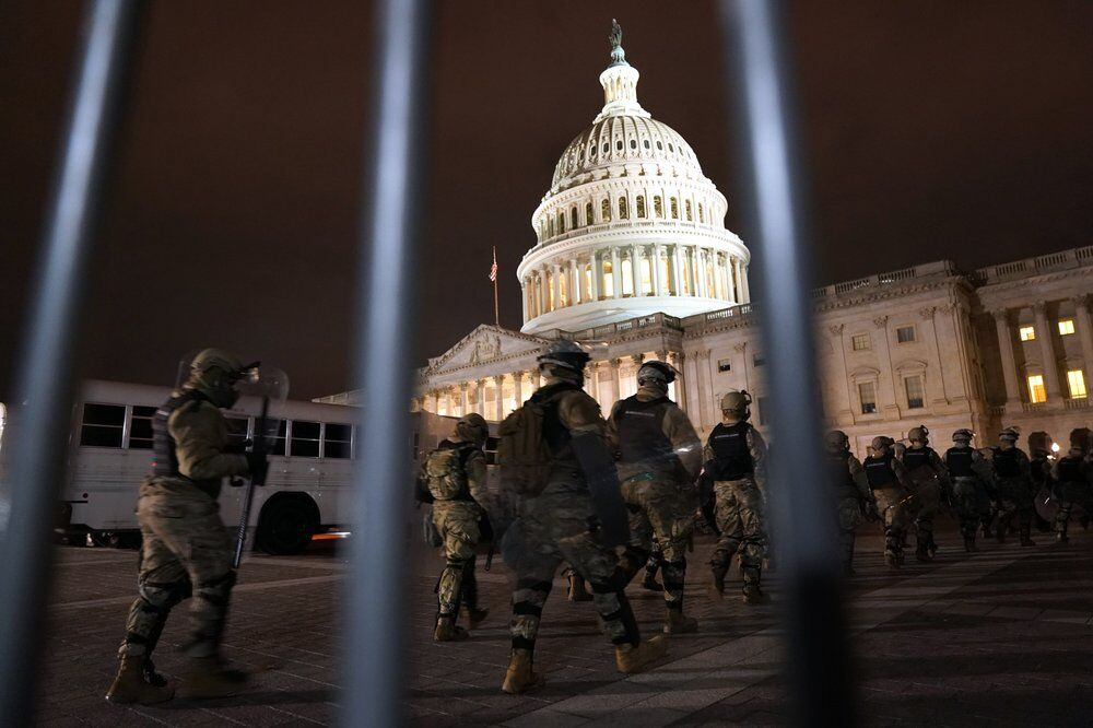 National Guard outside capitol