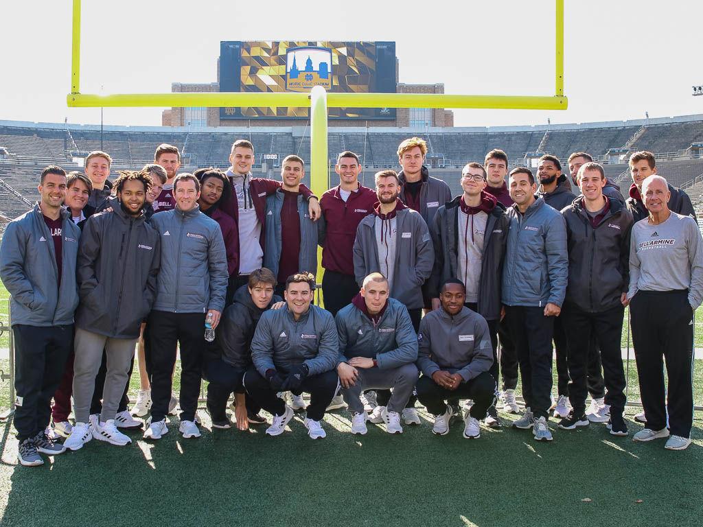 Bellarmine players at Notre Dame