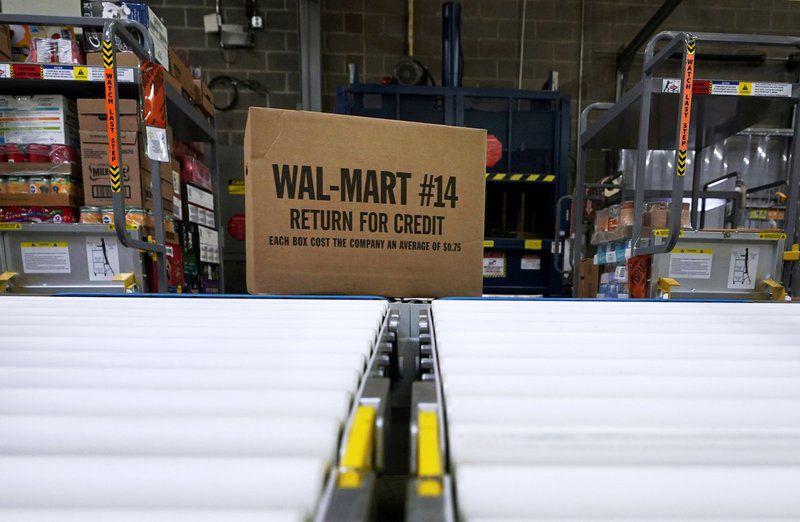 Walmart Box on Conveyor Belt