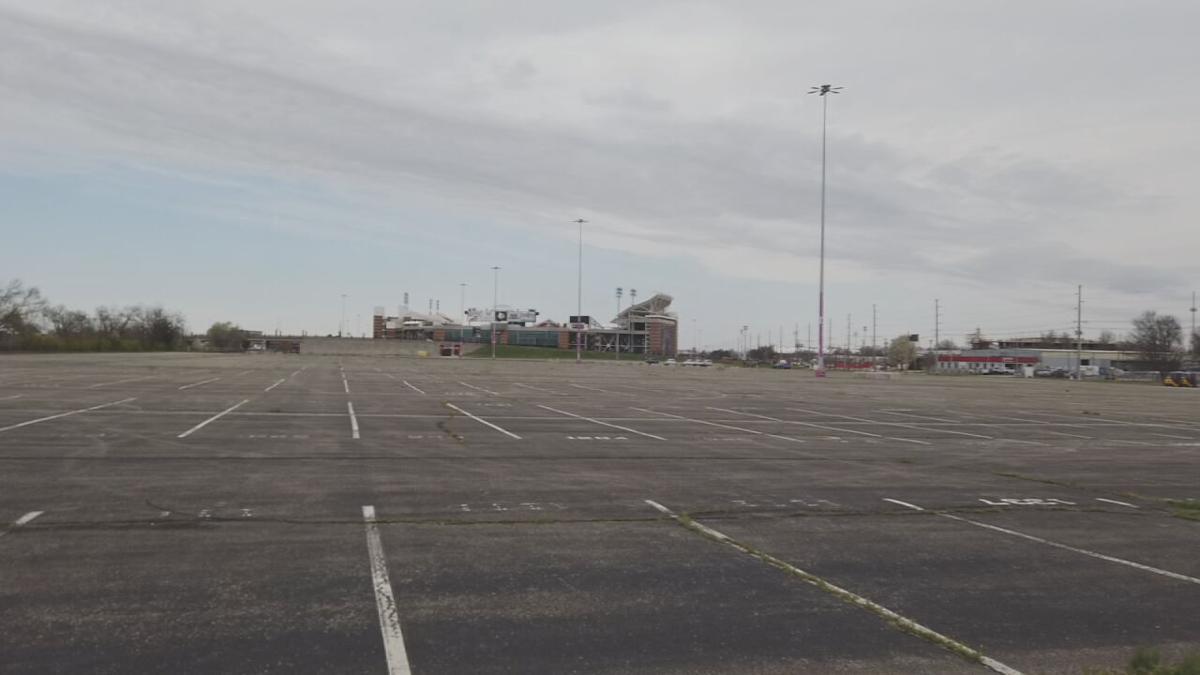 Cardinal Stadium parking lot