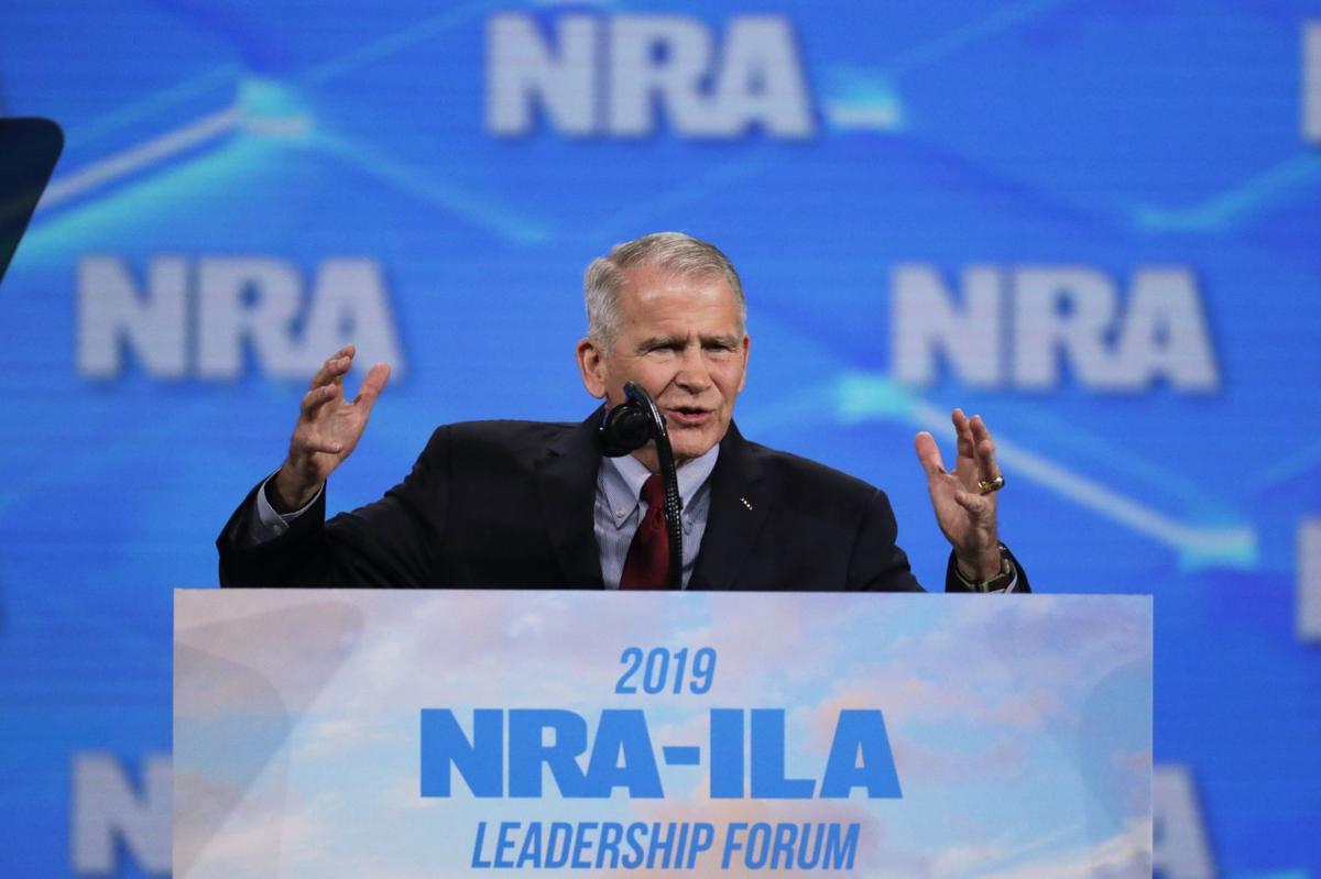 NRA President Oliver North via AP
