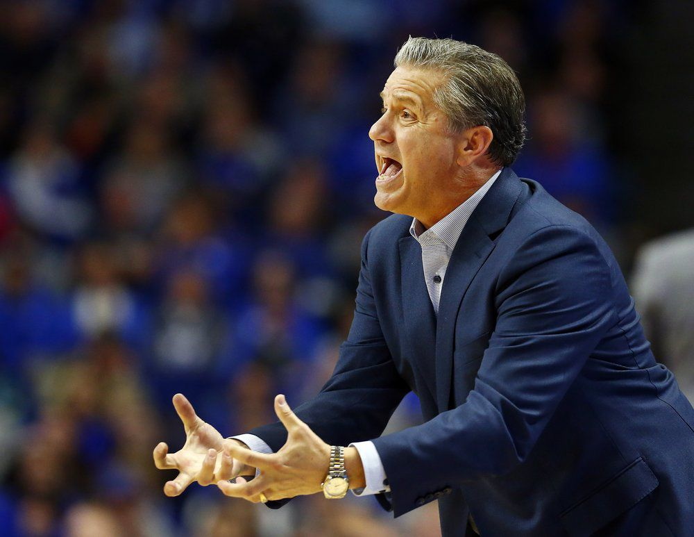 Calipari on Sidelines at Evansville