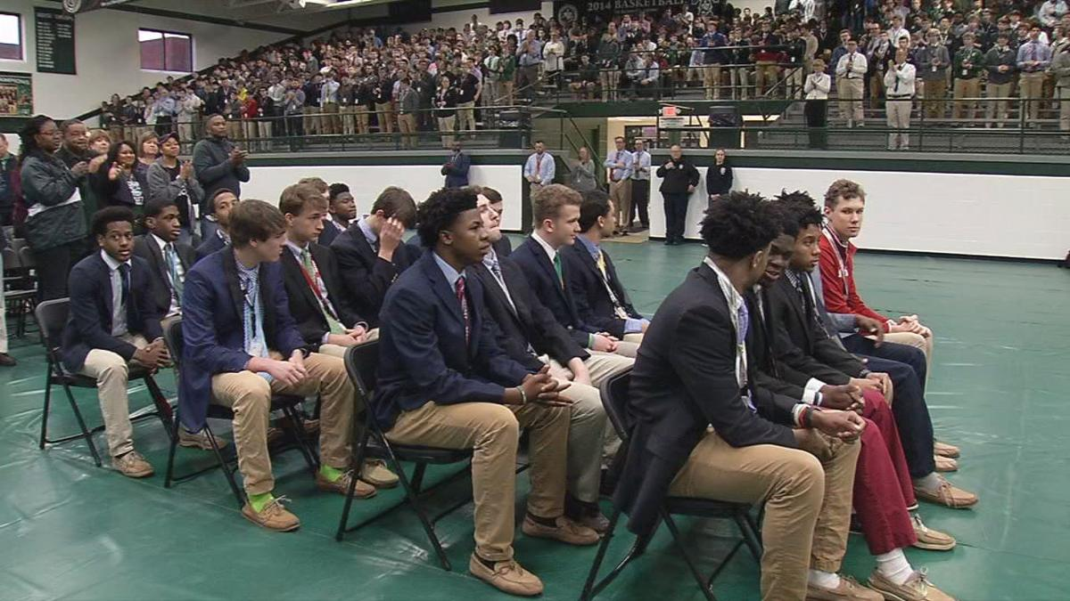 Trinity High School celebrates 2019 Sweet 16 Boys State Championship win
