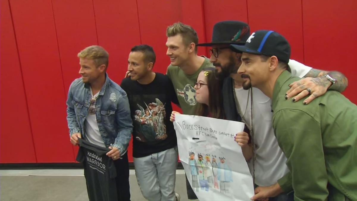 The Backstreet Boys pose for a picture