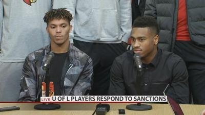Damion Lee and Trey Lewis react to U of L postseason ban