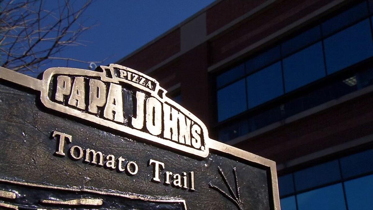Papa Johns logo at corporate HQ 2.jpg