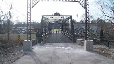 Historic bridge in southern Indiana back open after collapse