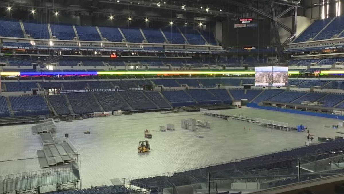 LUCAS OIL STADIUM TRANSFORMATION FOR NCAA - CNN 2-26-2021 1