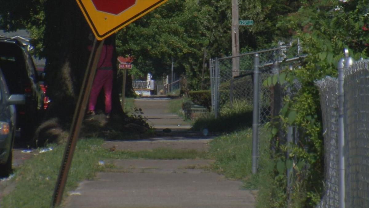 Osage Homicide Scene Sidewalk