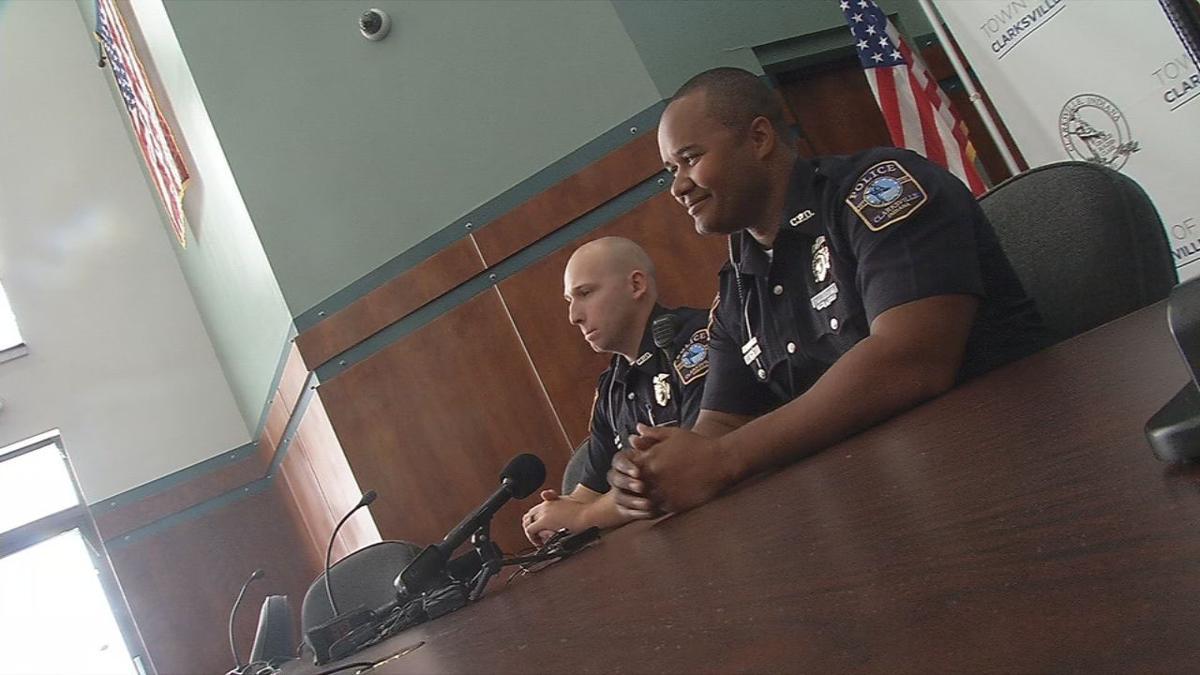 Clarksville Police Officers John Miller and erik Laasanen
