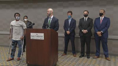 Attorney Kevin Glogower, Chris 2X and others hold news conference in support of anonymous Breonna Taylor grand juror (Oct. 13, 2020)