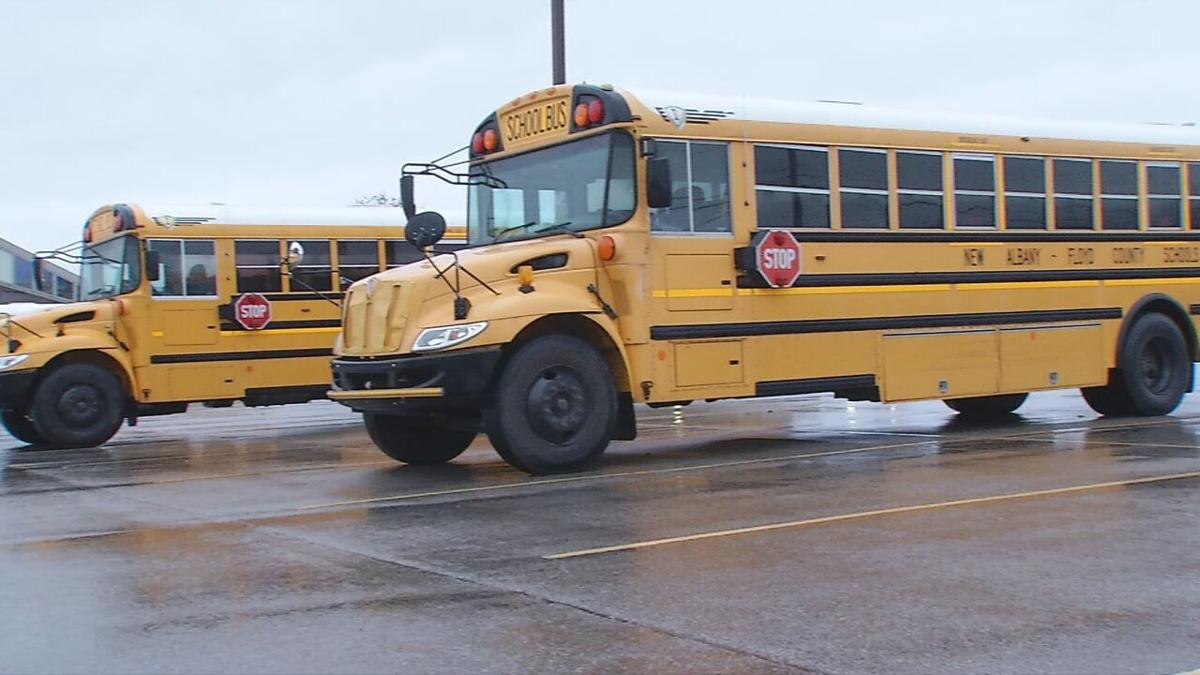 New Albany Floyd County Schools bus