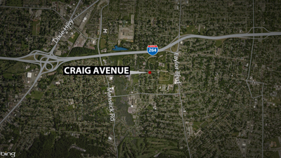 Craig Ave. double shooting map