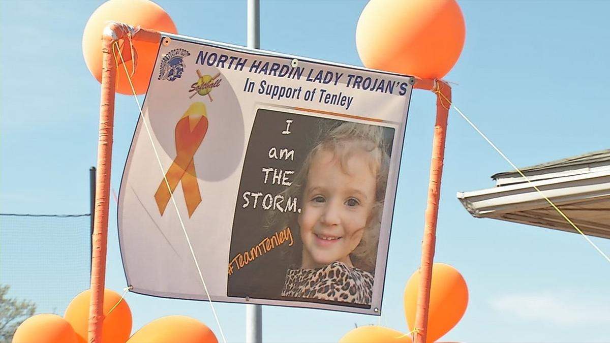 3-year-old leukemia patient honored at high school softball game in Hardin County