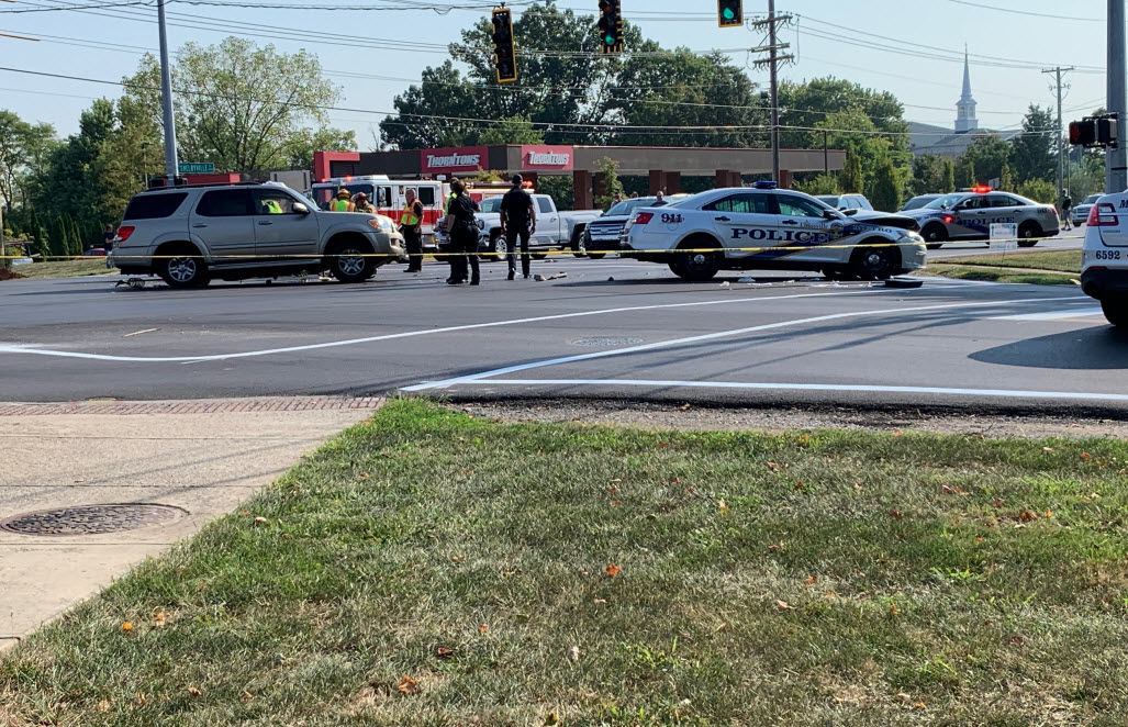 Officer involved in crash at US 60 and North Beckley Station Road